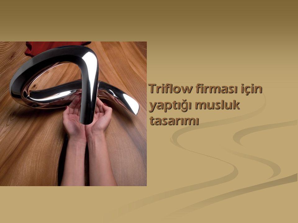 Triflow firması için yaptığı musluk tasarımı