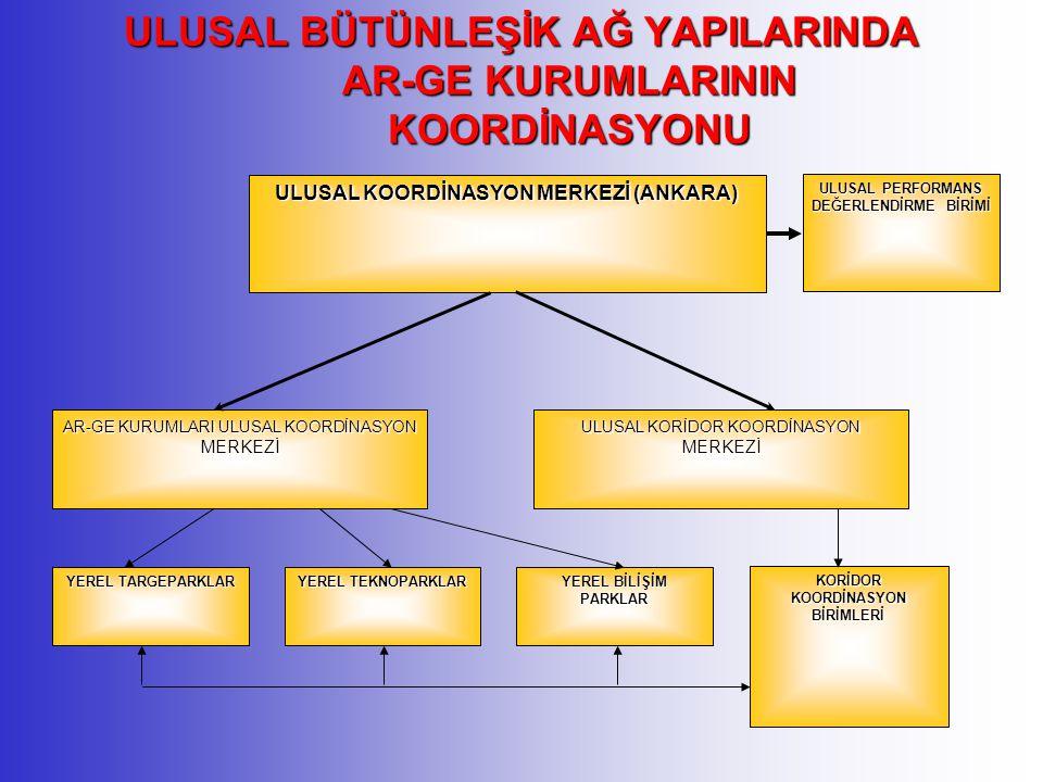 ULUSAL BÜTÜNLEŞİK AĞ YAPILARINDA AR-GE KURUMLARININ KOORDİNASYONU