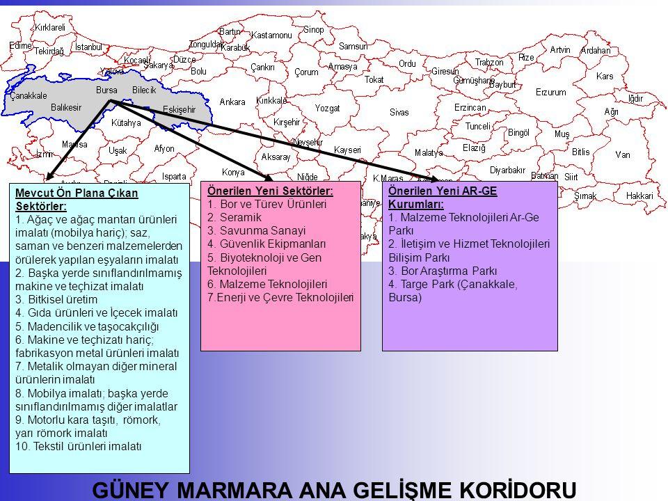 GÜNEY MARMARA ANA GELİŞME KORİDORU