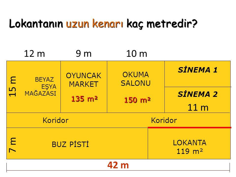 Lokantanın uzun kenarı kaç metredir