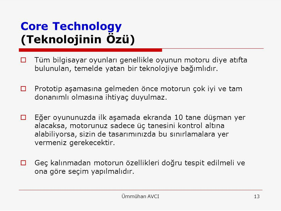 Core Technology (Teknolojinin Özü)