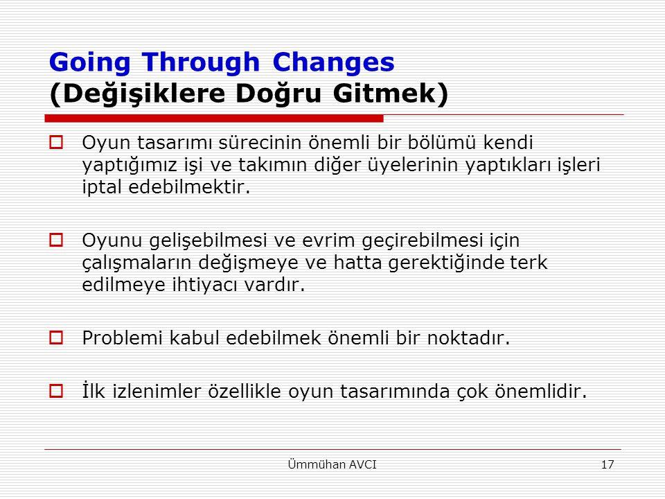 Going Through Changes (Değişiklere Doğru Gitmek)