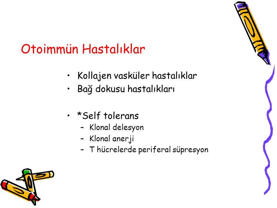 Otoimmün Hastalıklar Kollajen vasküler hastalıklar