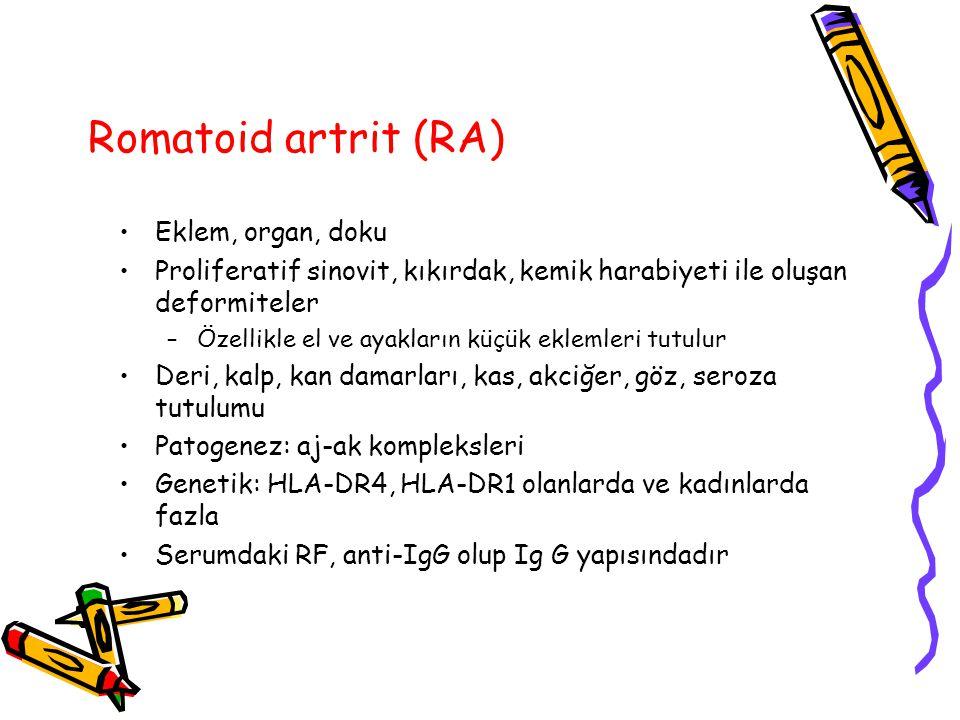 Romatoid artrit (RA) Eklem, organ, doku