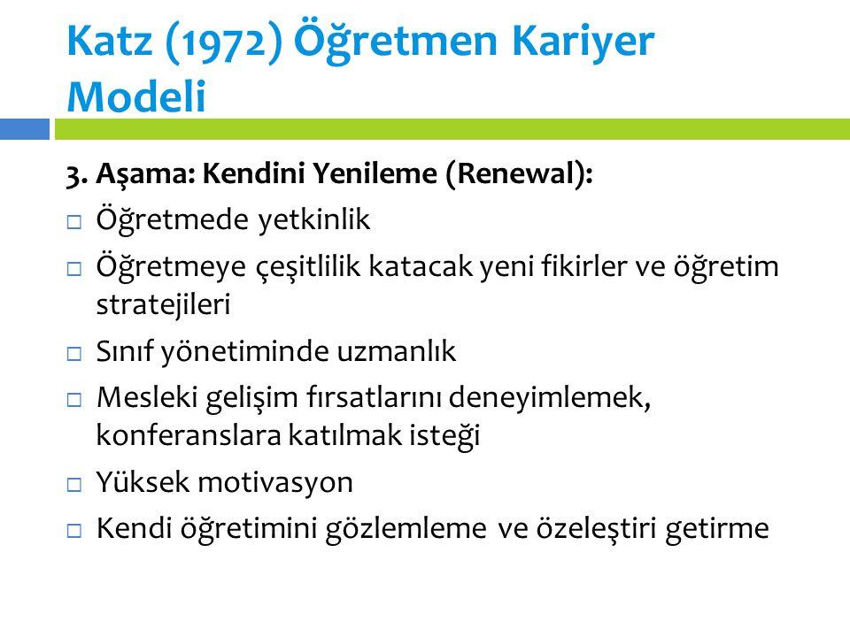 Katz (1972) Öğretmen Kariyer Modeli