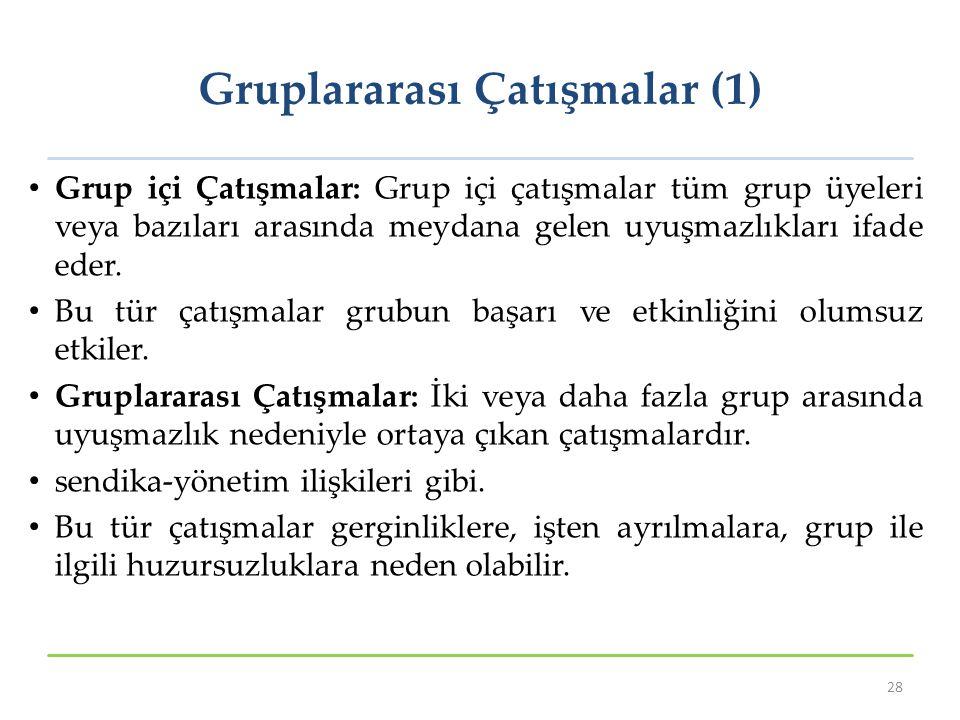 Gruplararası Çatışmalar (1)