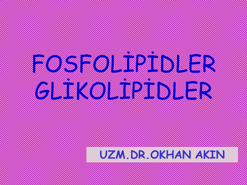 FOSFOLİPİDLER GLİKOLİPİDLER