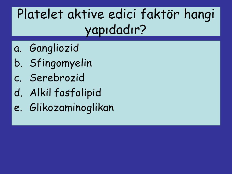 Platelet aktive edici faktör hangi yapıdadır