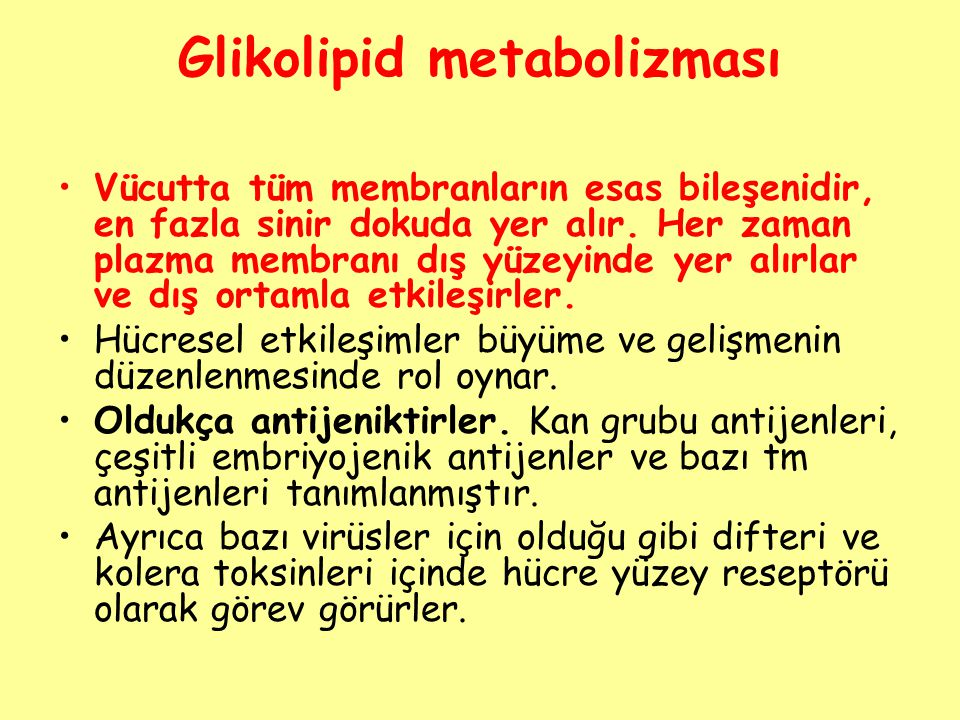 Glikolipid metabolizması
