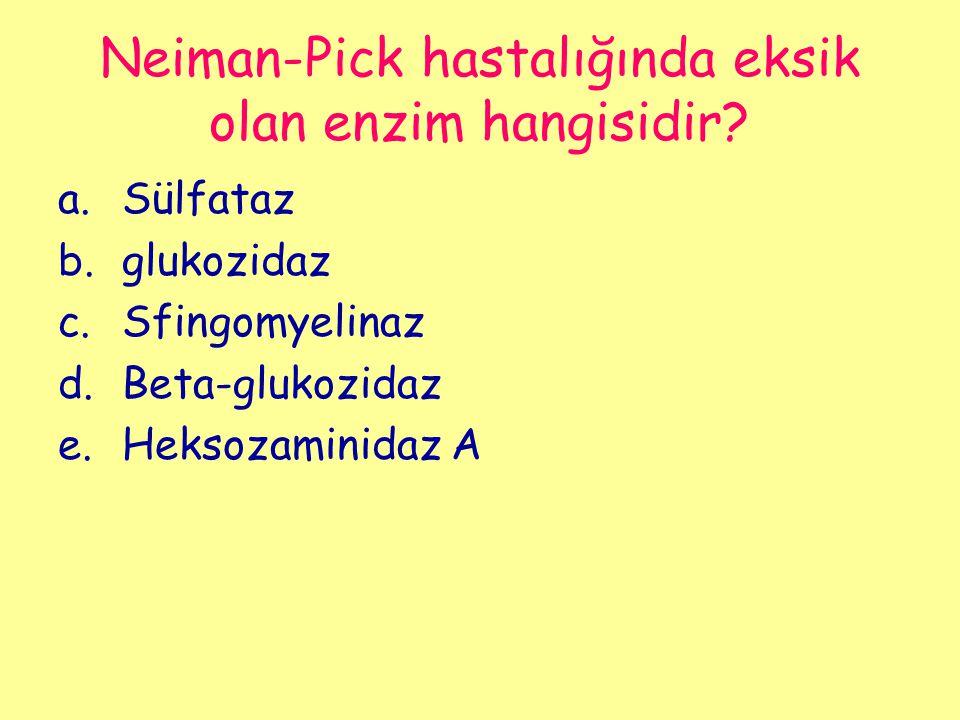 Neiman-Pick hastalığında eksik olan enzim hangisidir