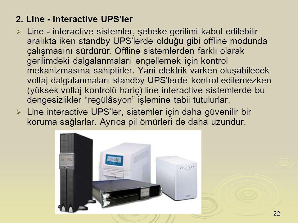 2. Line - Interactive UPS'ler