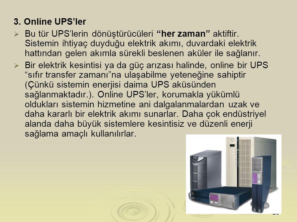 3. Online UPS'ler