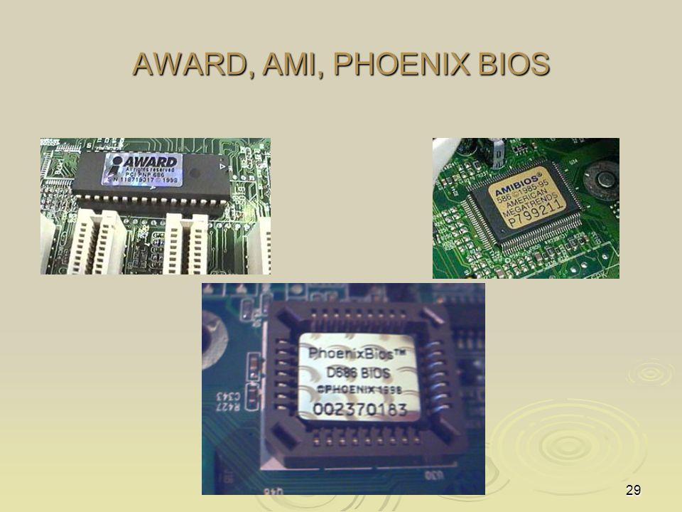 AWARD, AMI, PHOENIX BIOS