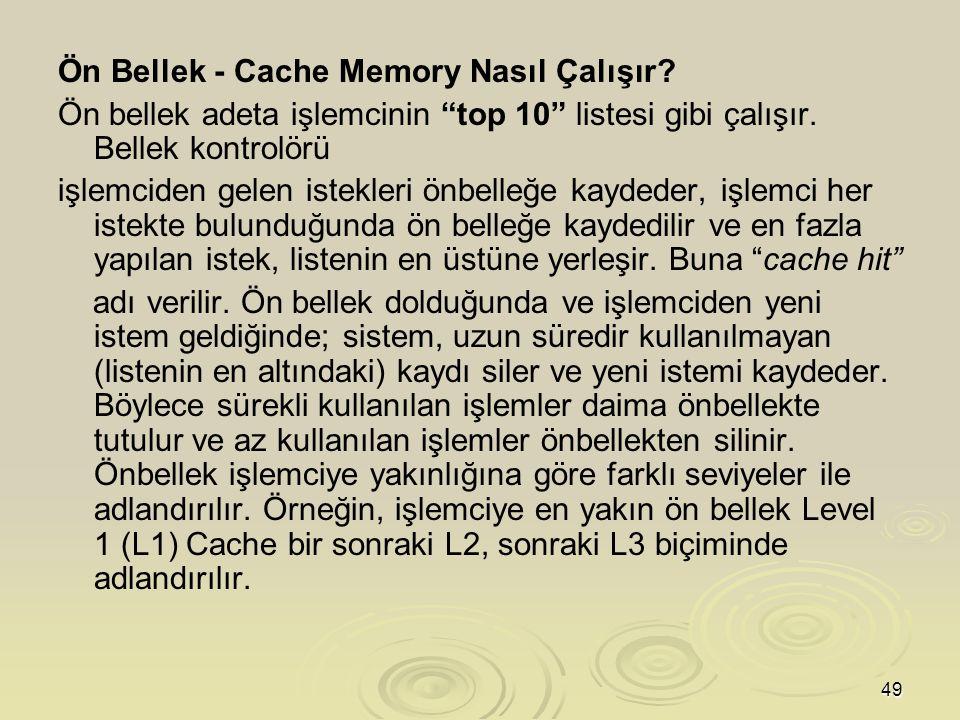 Ön Bellek - Cache Memory Nasıl Çalışır