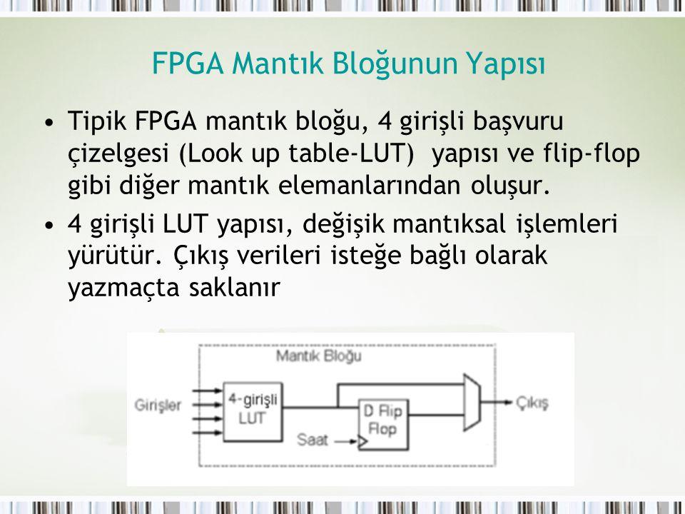 FPGA Mantık Bloğunun Yapısı