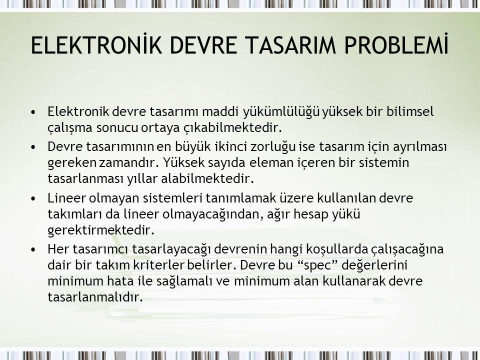 ELEKTRONİK DEVRE TASARIM PROBLEMİ