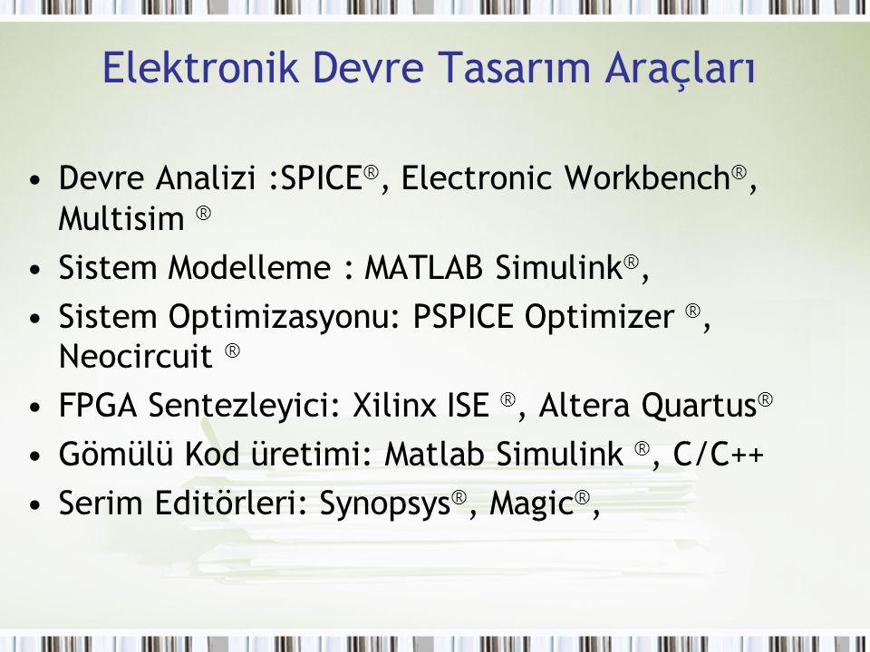 Elektronik Devre Tasarım Araçları