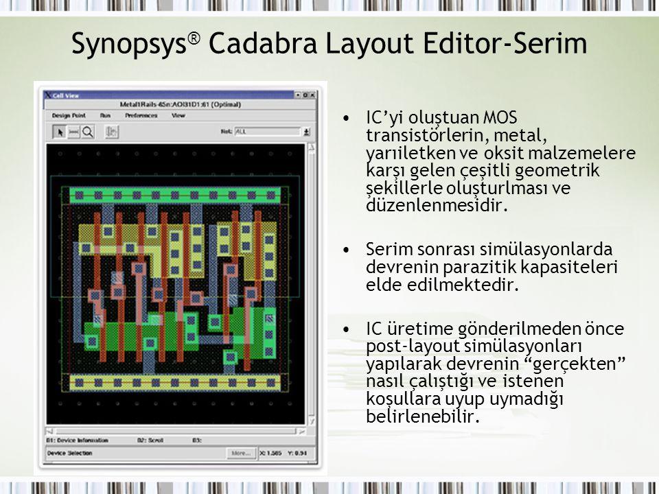 Synopsys® Cadabra Layout Editor-Serim