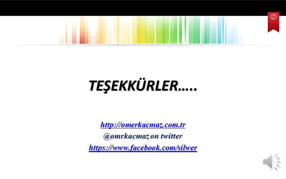 TEŞEKKÜRLER….. http://omerkacmaz.com.tr @omrkacmaz on twitter