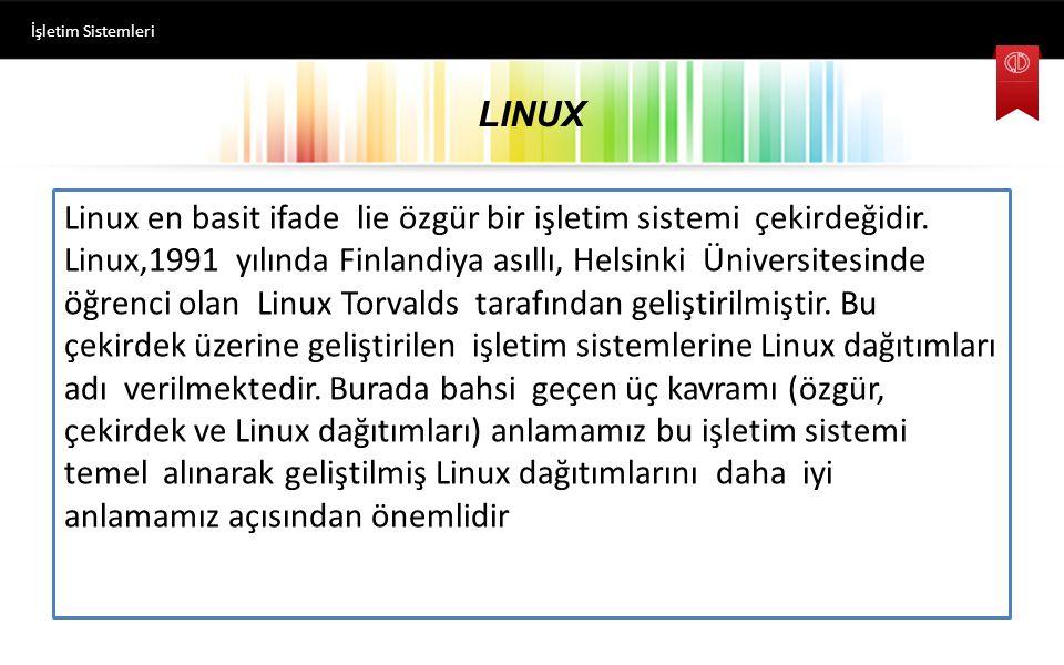 İşletim Sistemleri LINUX.