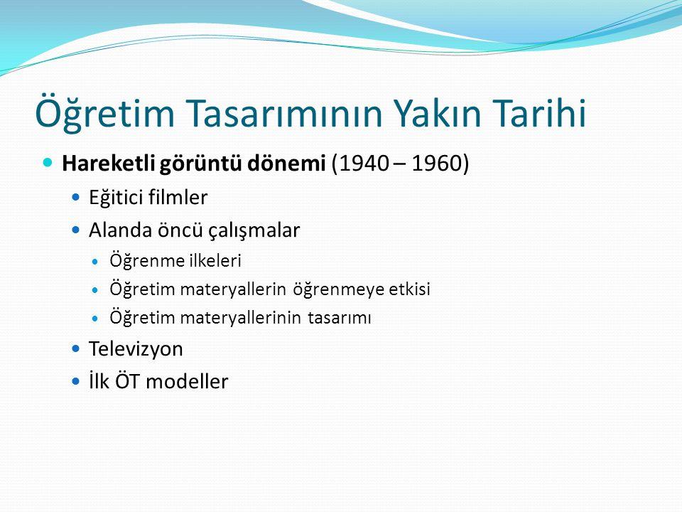 Öğretim Tasarımının Yakın Tarihi