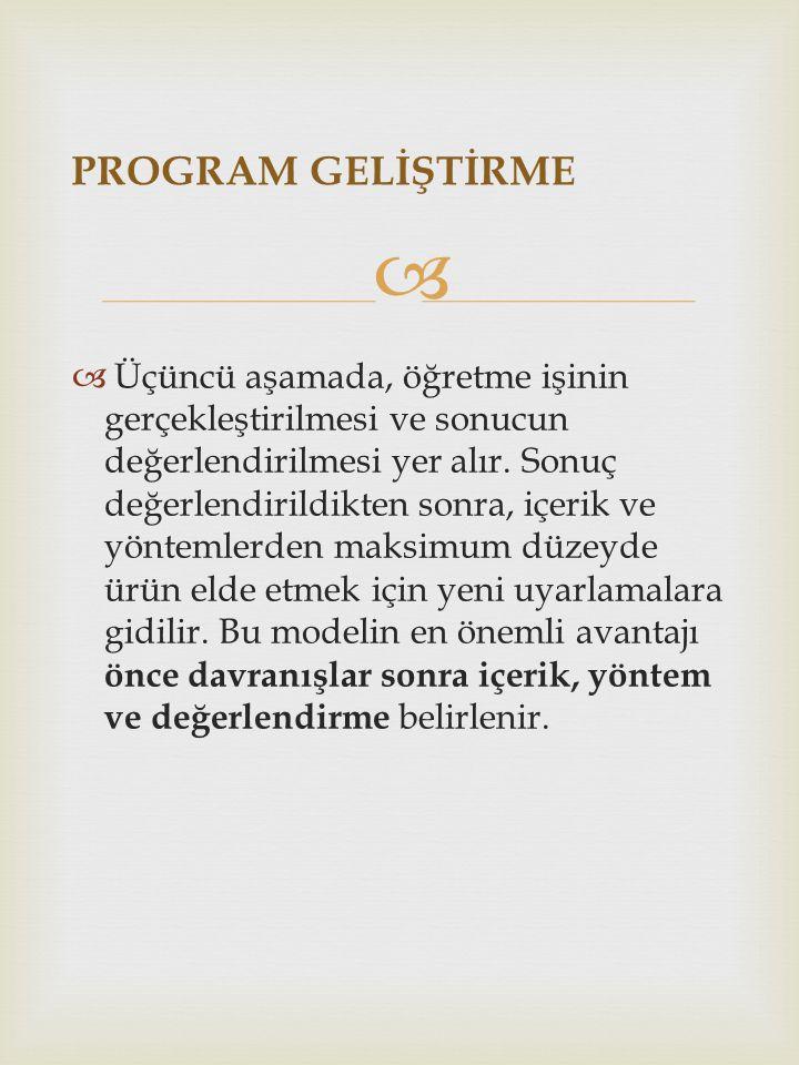 PROGRAM GELİŞTİRME