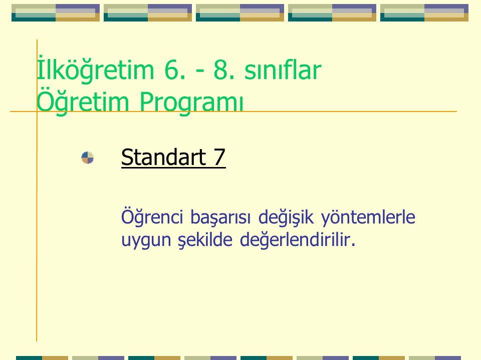 İlköğretim 6. - 8. sınıflar Öğretim Programı
