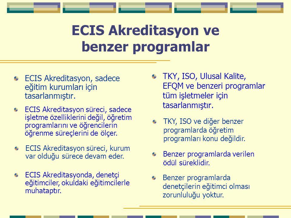 ECIS Akreditasyon ve benzer programlar