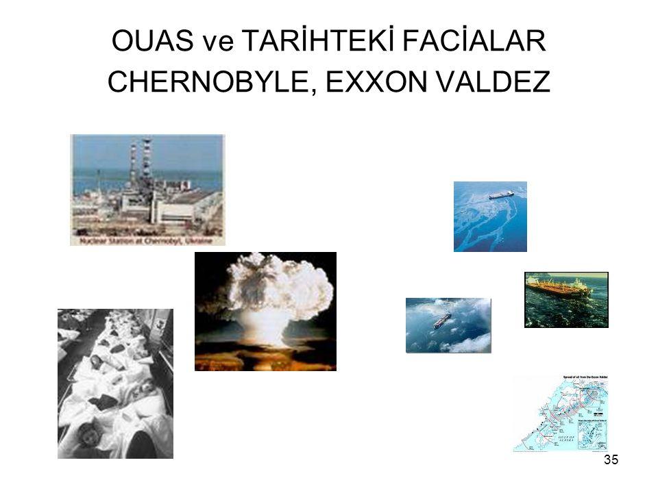 OUAS ve TARİHTEKİ FACİALAR CHERNOBYLE, EXXON VALDEZ