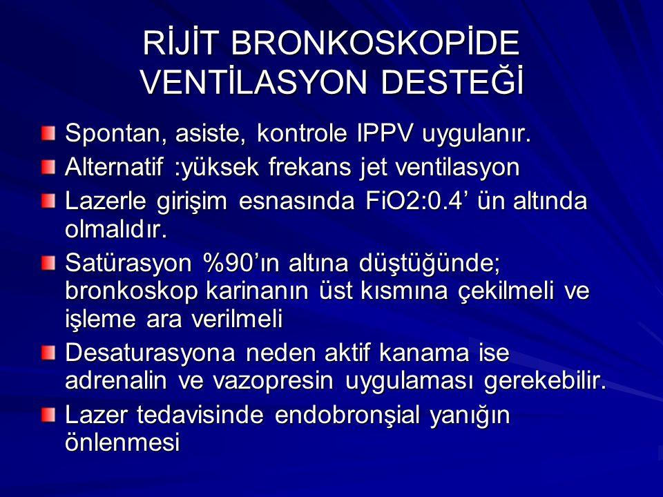 RİJİT BRONKOSKOPİDE VENTİLASYON DESTEĞİ