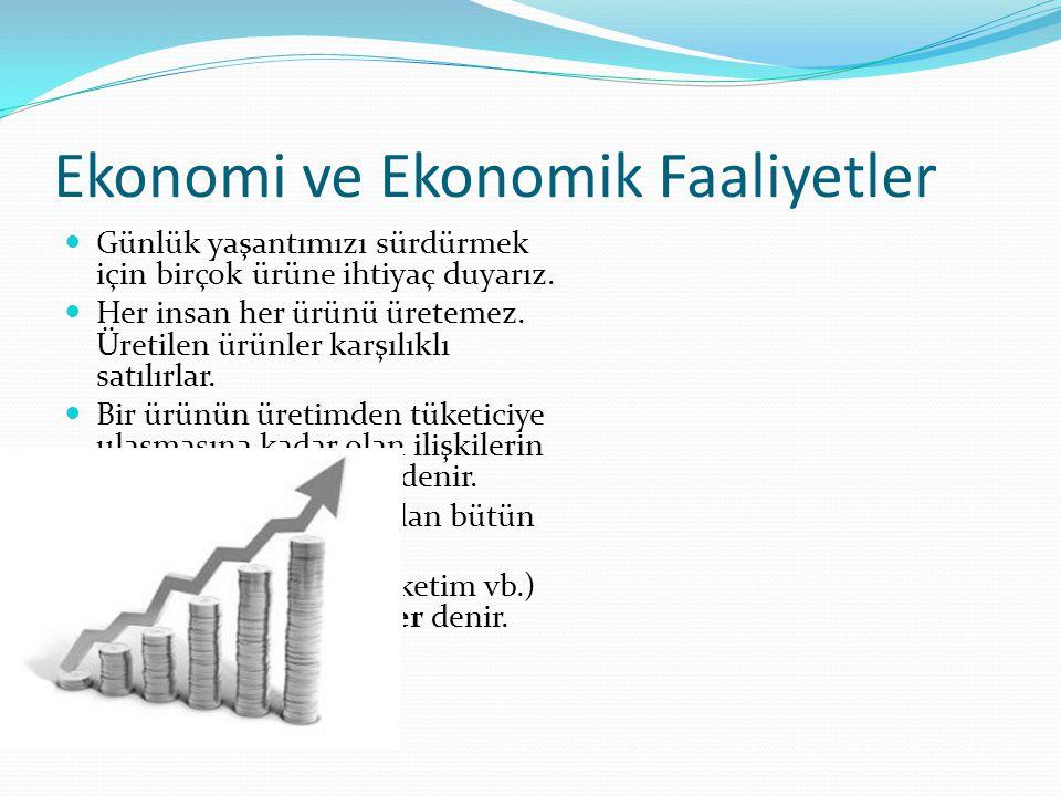 Ekonomi ve Ekonomik Faaliyetler