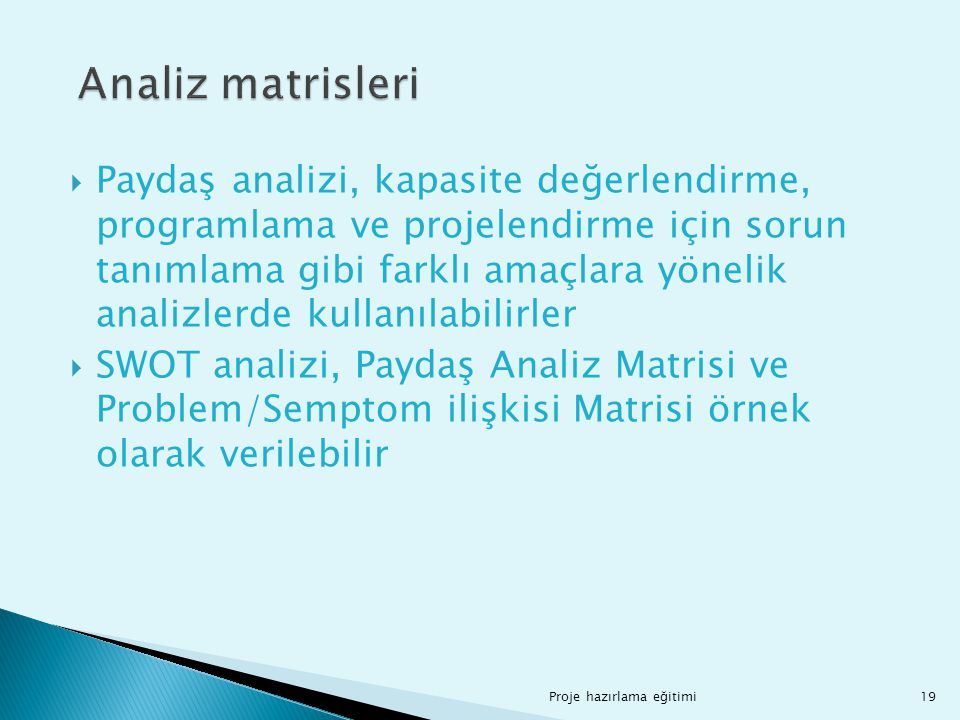Analiz matrisleri