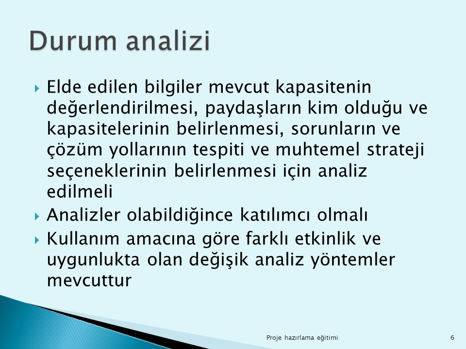 Durum analizi