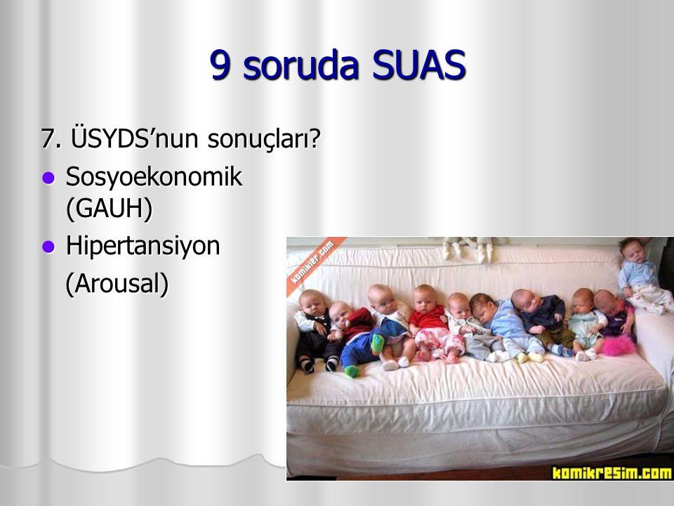 9 soruda SUAS 7. ÜSYDS'nun sonuçları Sosyoekonomik (GAUH)