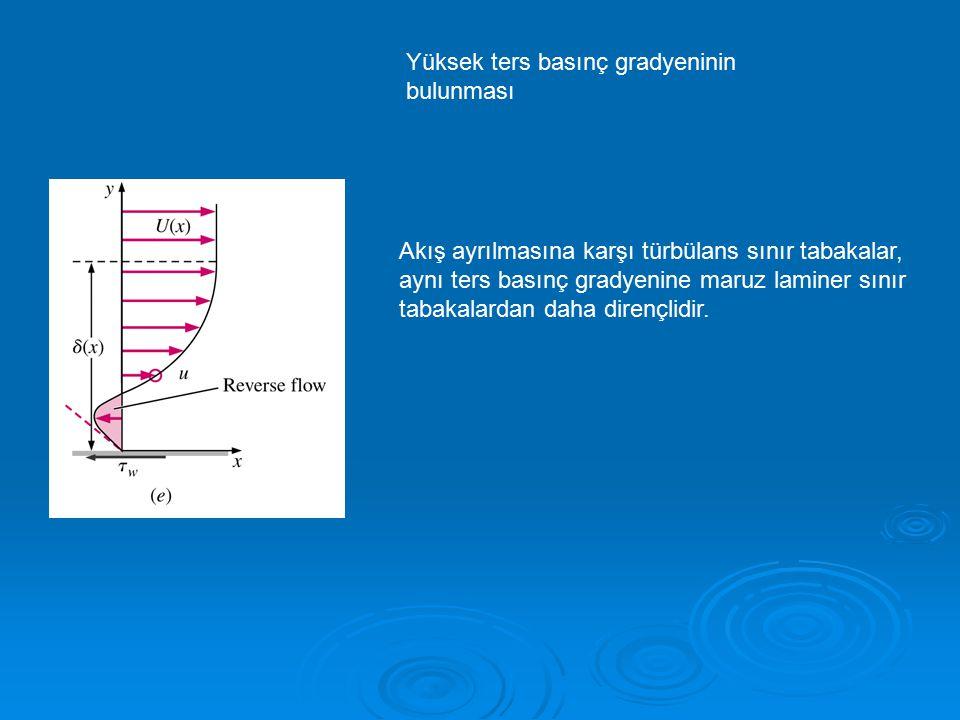 Yüksek ters basınç gradyeninin bulunması