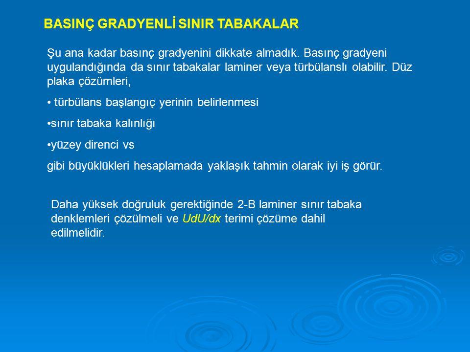 BASINÇ GRADYENLİ SINIR TABAKALAR
