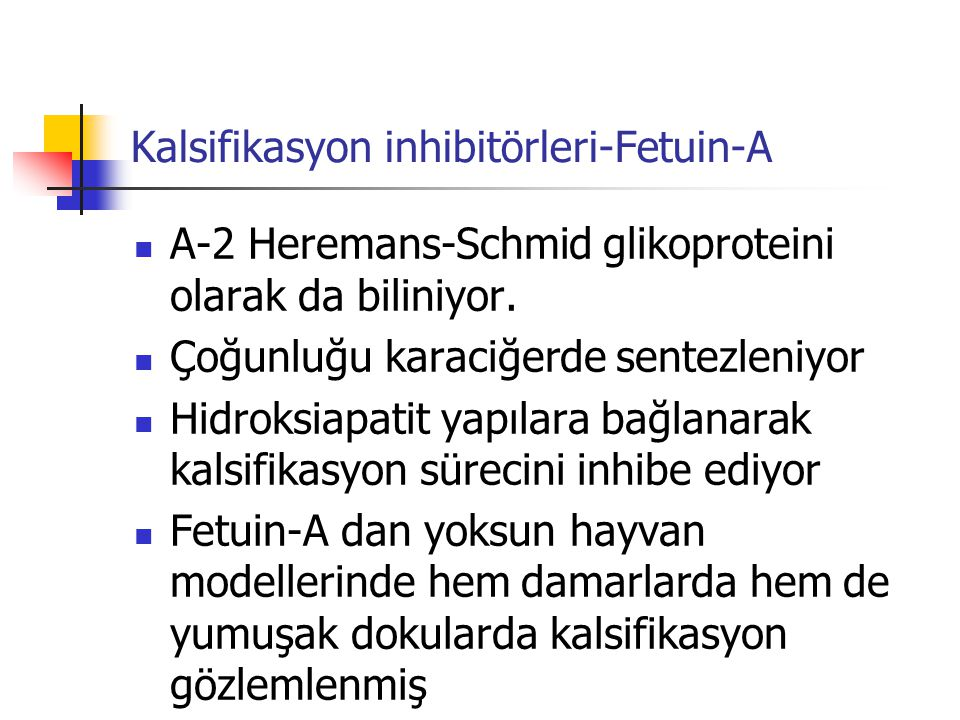 Kalsifikasyon inhibitörleri-Fetuin-A