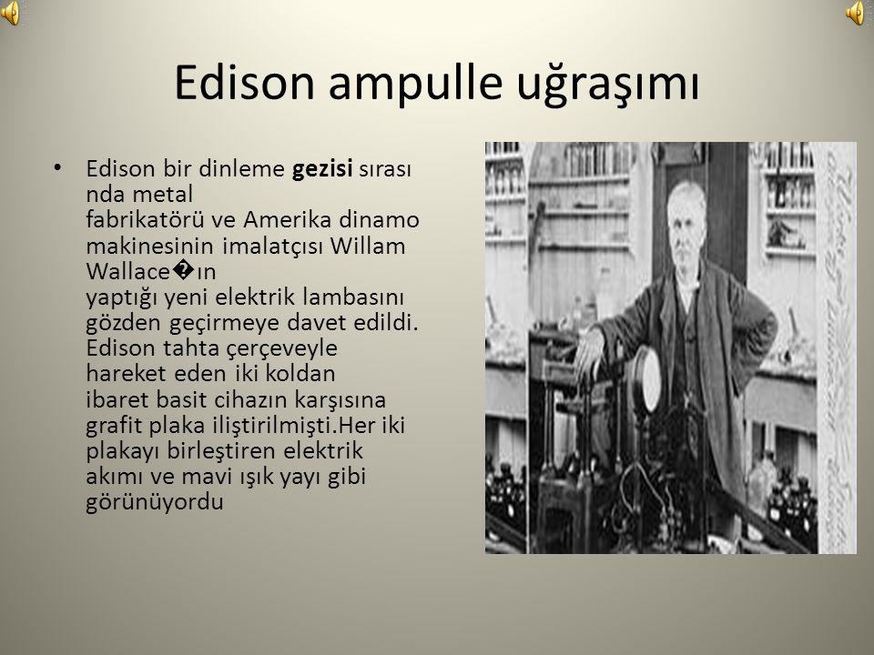 Edison ampulle uğraşımı