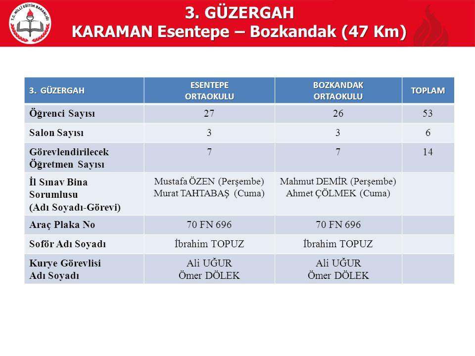 KARAMAN Esentepe – Bozkandak (47 Km)