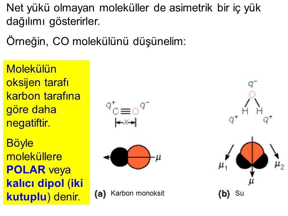 Örneğin, CO molekülünü düşünelim: