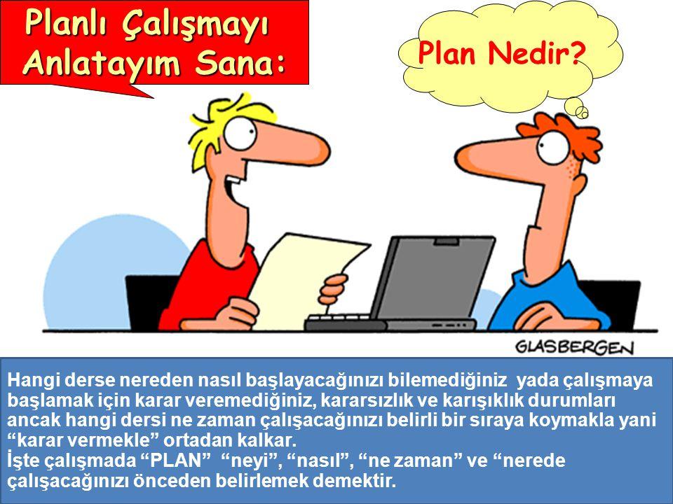ÖĞRENMENİN ŞARTLARI Planlı Çalışmayı Anlatayım Sana: Plan Nedir