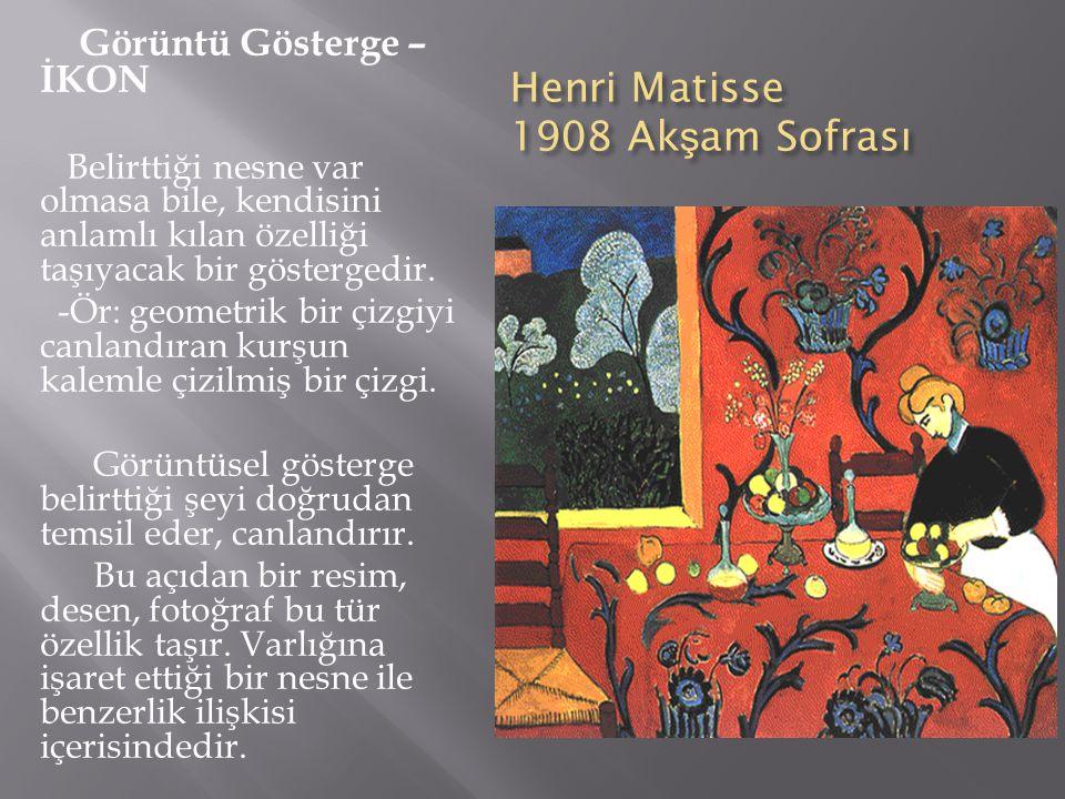 Henri Matisse 1908 Akşam Sofrası