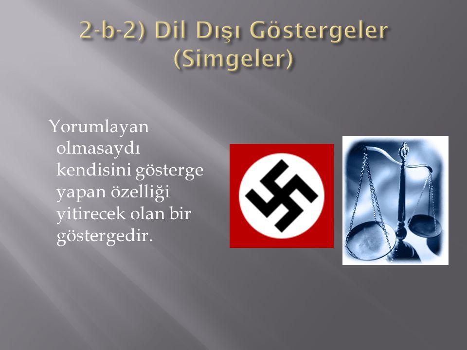 2-b-2) Dil Dışı Göstergeler (Simgeler)