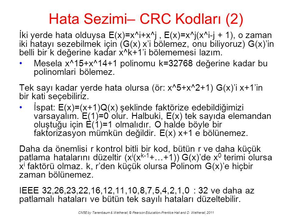 Hata Sezimi– CRC Kodları (2)