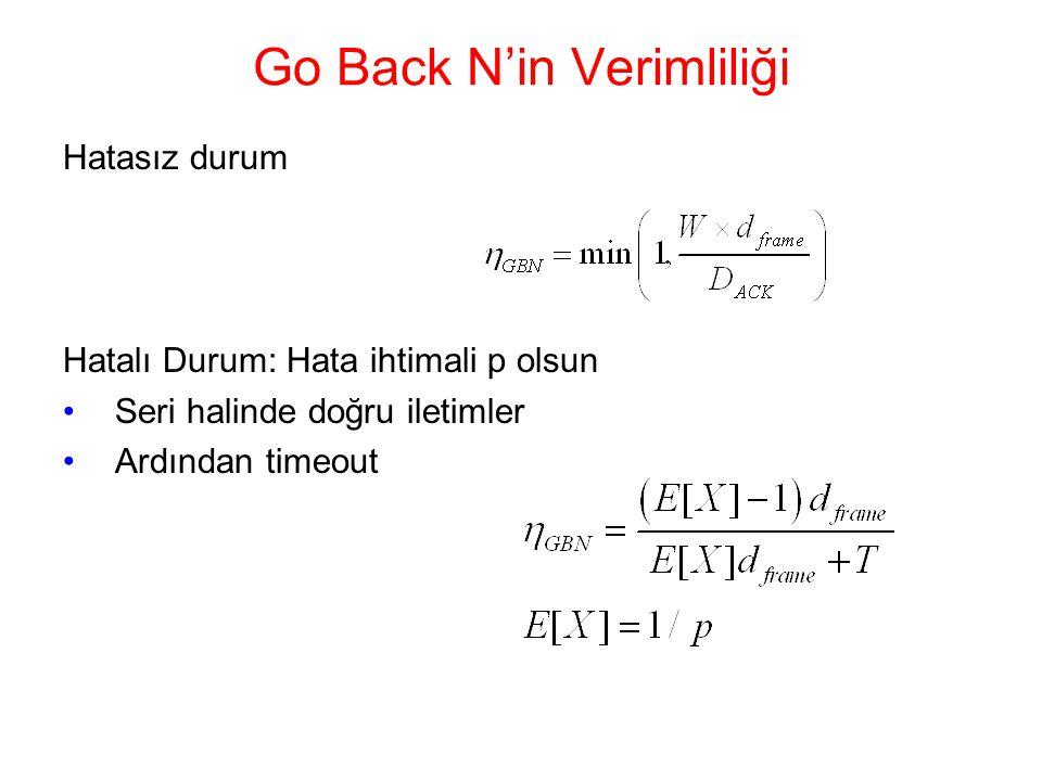 Go Back N'in Verimliliği