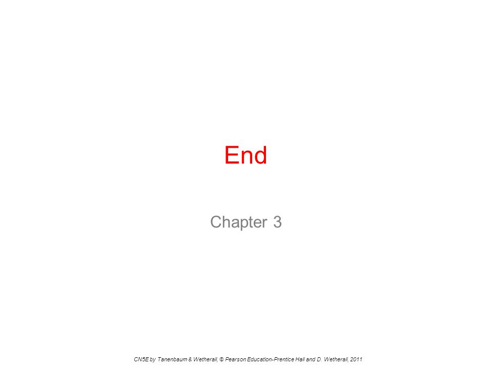 End Chapter 3. CN5E by Tanenbaum & Wetherall, © Pearson Education-Prentice Hall and D.