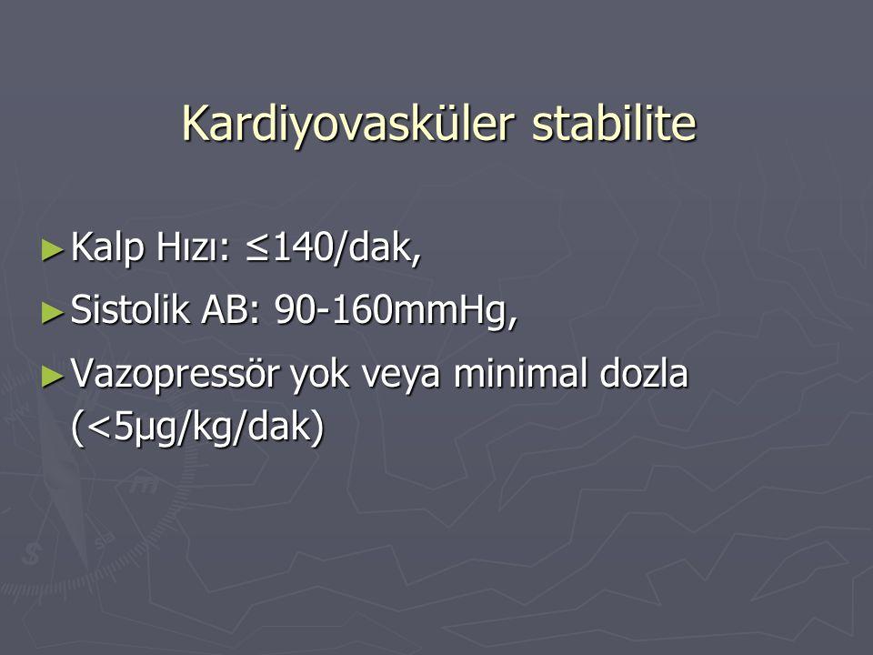 Kardiyovasküler stabilite