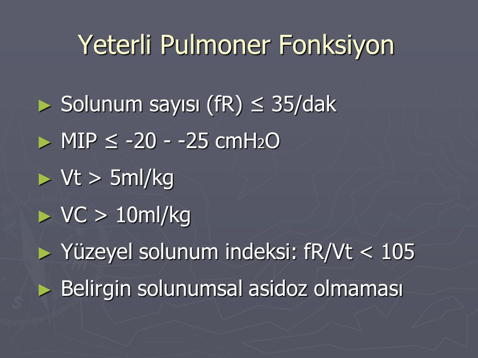 Yeterli Pulmoner Fonksiyon