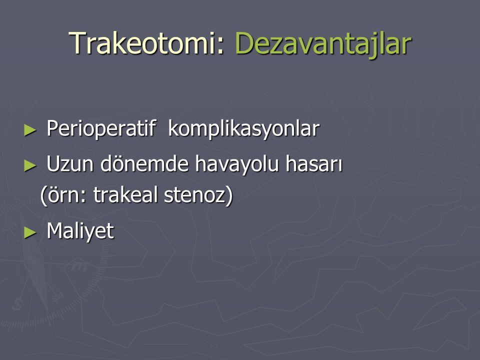 Trakeotomi: Dezavantajlar