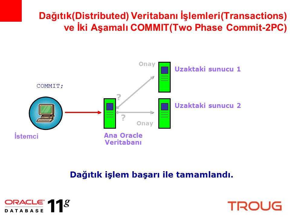 Dağıtık(Distributed) Veritabanı İşlemleri(Transactions) ve İki Aşamalı COMMIT(Two Phase Commit-2PC)